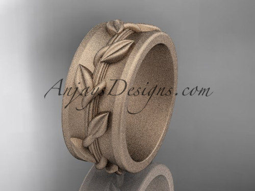 matte finish gold Wedding Ring Designs for  women ADLR417G