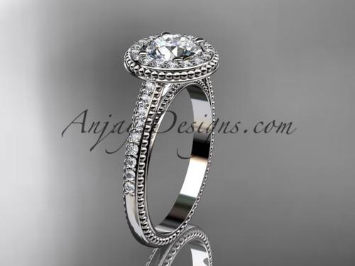 platinum diamond unique engagement ring, wedding ring ADER104