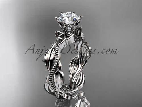 14kt white gold diamond celtic trinity knot wedding ring, engagement ring CT7258
