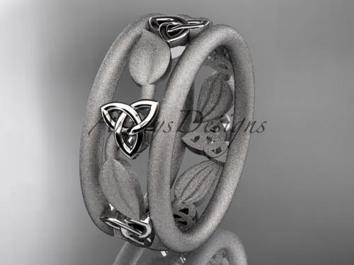platinum celtic trinity knot wedding band, engagement  ring CT7233GM