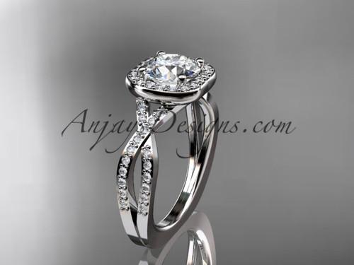14kt white gold wedding ring, engagement ring ADER393