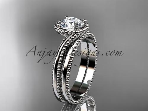 platinum  wedding ring, engagement set ADLR389S
