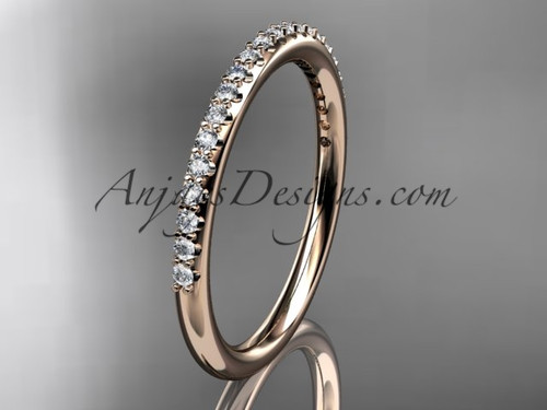 stacking rings rose gold diamond  engagement ring ADER103B