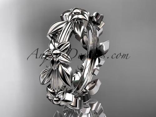 Platinum leaf wedding ring,engagement ring, wedding band ADLR316G