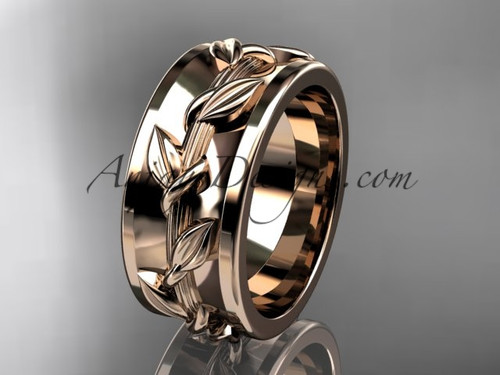 Rose Gold Ring Design Without Stone Wedding Band ADLR417G
