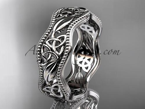 platinum celtic trinity knot wedding band, engagement  ring CT7190G