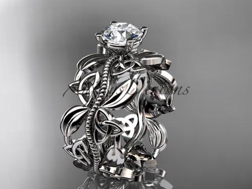platinum celtic trinity knot wedding ring, engagement  ring CT7188