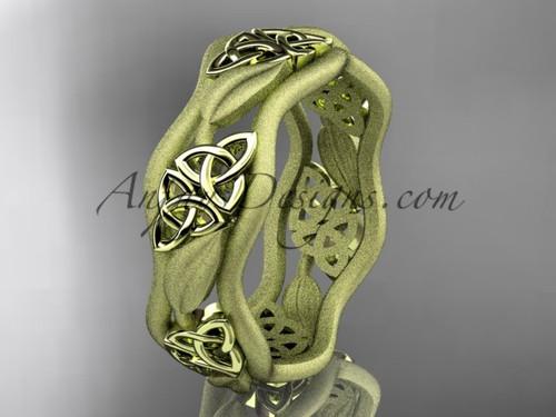 Mens Wedding Rings - Yellow Gold Celtic Bridal ring CT7506G