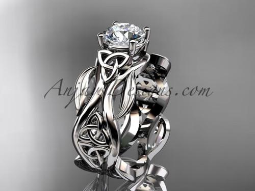 platinum celtic trinity knot wedding ring, engagement  ring CT7264