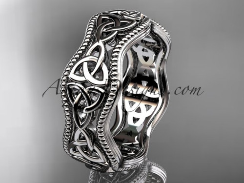 Triquetra Wedding Band White Gold Irish Bridal ring CT750B