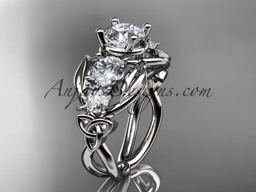 Platinum  Moissanite Welsh Engagement Ring CT769