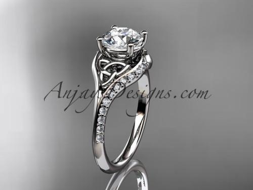 platinum diamond celtic trinity knot wedding ring, engagement ring CT7125