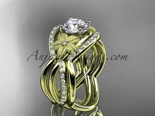 Beautiful Luxury Flower Diamond Engagement Ring ADLR90S