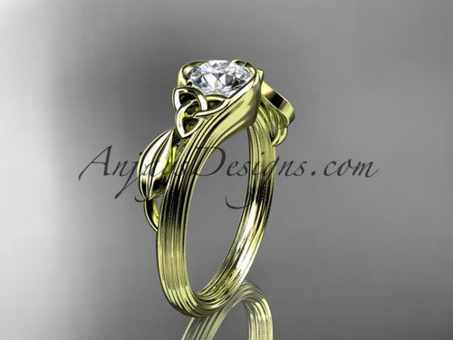 14kt yellow gold celtic trinity knot wedding ring, engagement ring CT7324