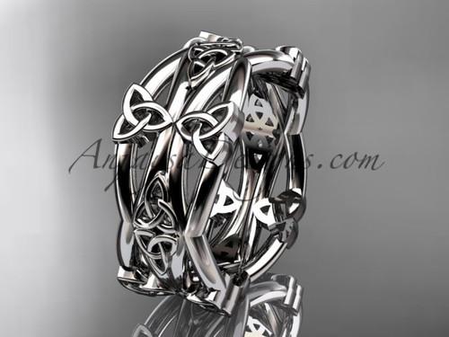 platinum celtic trinity knot wedding band, engagement  ring CT7517G
