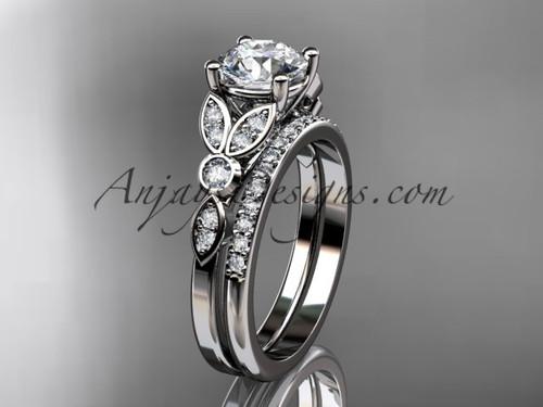 platinum unique engagement set, wedding ring ADLR387S