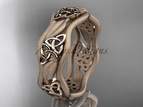 Celtic Engagement Rings, Rose Gold Wedding Band CT7512GM