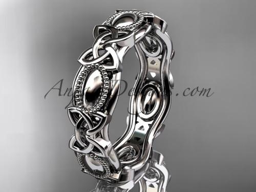 platinum celtic trinity knot wedding band, engagement ring CT7152G