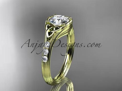 Diamond Celtic Trinity Knot Rose Gold Wedding Ring CT7333