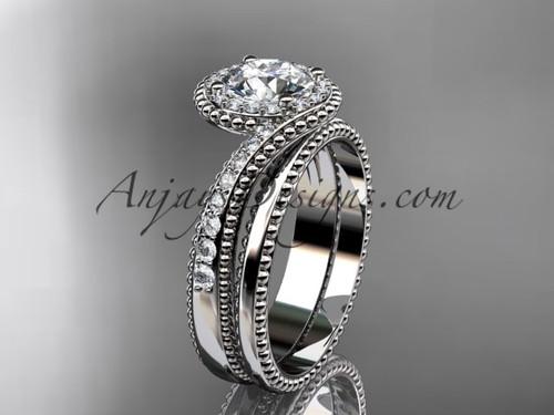 platinum halo diamond engagement set ADLR379S