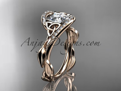 14kt Rose Gold Celtic Modern Engagement Ring CT764