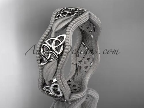 platinum celtic trinity knot wedding band, engagement  ring CT7190GM