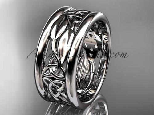 platinum celtic trinity knot wedding band, engagement ring CT7293GA