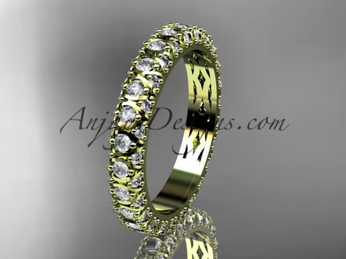 14kt yellow gold diamond wedding ring, engagement ring, wedding band, eternity ring ADLR123B