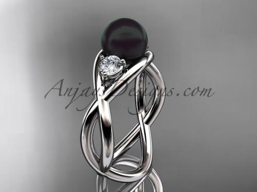 Platinum pearl engagement ring VBP8156