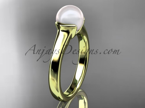 Vintage Engagement Rings Yellow Gold Pearl Ring VP10016