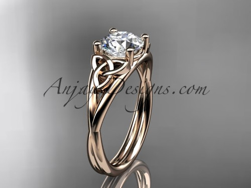 Irish Celtic Engagement Rings Rose Gold Wedding Rings CT7189
