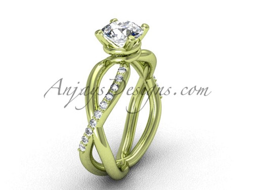 Antique Yellow Gold Diamond Engagement Ring VD870