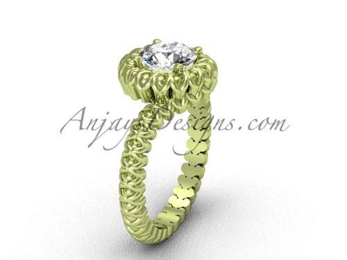 Vintage Yellow Gold No Diamond Engagement Ring VD1006