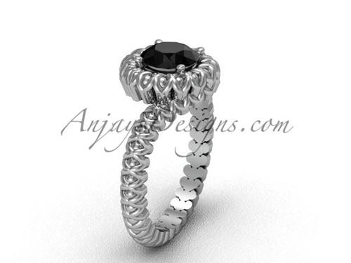 Anniversary Moissanite Platinum Engagement Ring VD1006