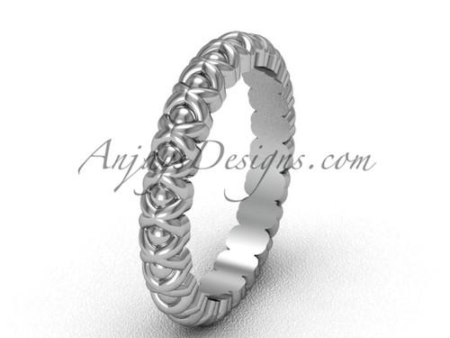 Platinum No Diamond Engagement Ring for Women VD1008