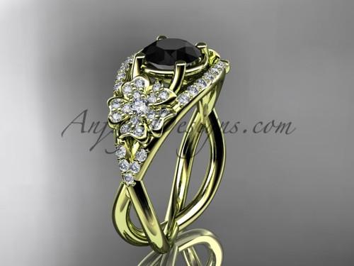Sakura Engagement Ring - Yellow Gold Alternative Ring VD8088