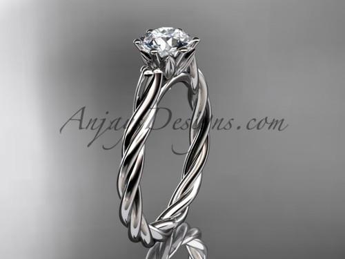 Platinum rope engagement ring RP835