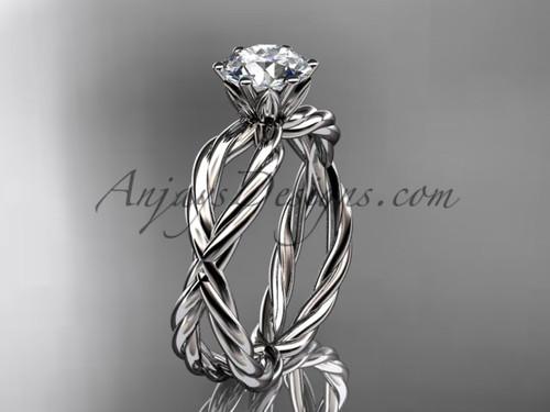 Platinum rope engagement ring RP870