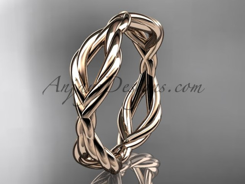 14k rose gold rope wedding band RP898G