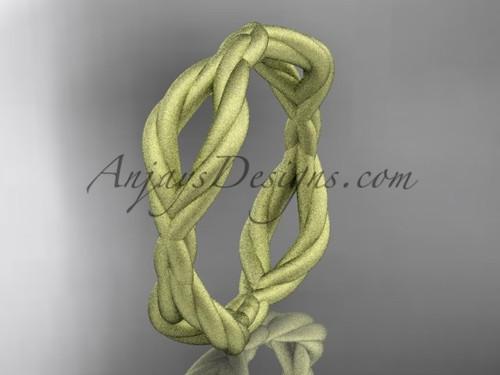 14k yellow gold rope matte finish wedding band RP898G