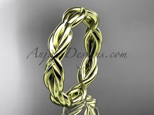 14k yellow gold rope wedding band RP899G