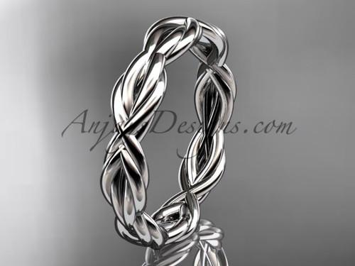platinum rope wedding band RP899G