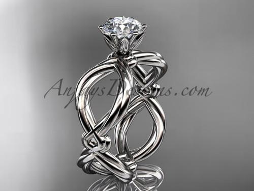 Platinum twisted rope wedding ring RP8192
