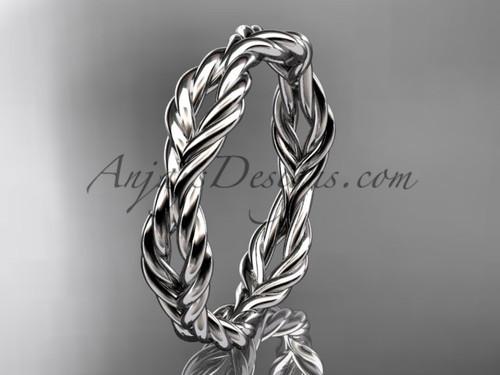 Platinum twisted rope wedding band RP8117G