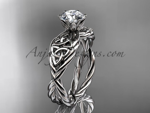 platinum rope celtic engagement ring RPCT970