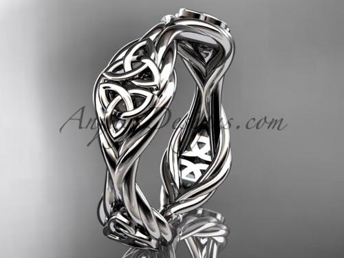 platinum rope celtic trinity knot wedding band RPCT998G