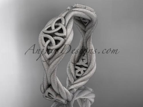 platinum matte finish  rope celtic wedding band RPCT998G
