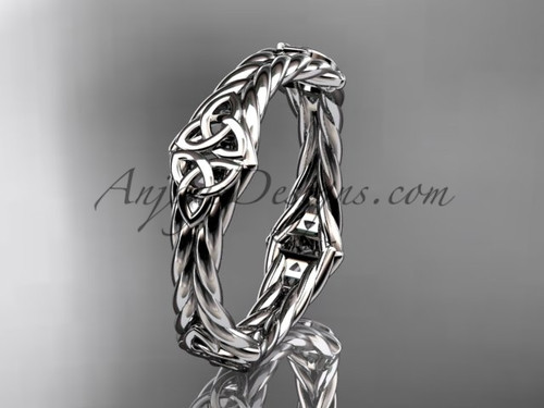 14k white gold celtic twisted rope wedding band RPCT9356G