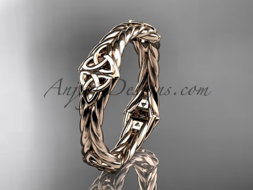 14k rose gold celtic twisted rope wedding band RPCT9356G