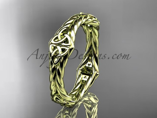 14k yellow gold celtic twisted rope wedding band RPCT9356G